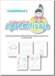 Fichas de grafomotricidad para niños de preescolar.