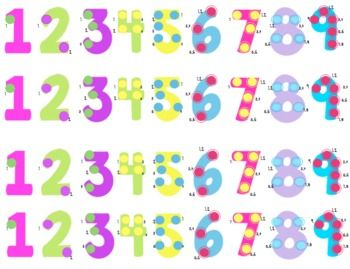 FREE! Touch Math posters, number lines, and math wall printables