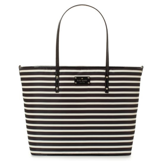 kate spade | designer diaper bags - nylon stripe harmony baby bag - it's RED on the inside!!!  P.S. I will have!!