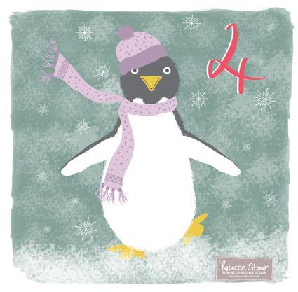 Christmas Advent Challenge - Day 4 - Penguin by Rebecca Stoner www.rebeccastoner.co.uk