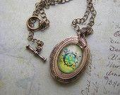 Personalize Initial Locket Necklace in Antique Bronze Finish - Custom Alphabet Locket - Monogram Gift