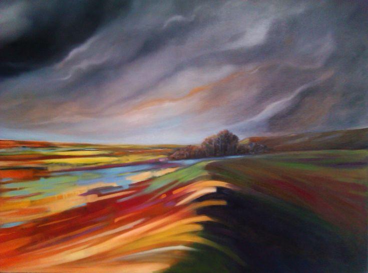 Barbara Becker Art A River Runs Through It Oil on canvas 90cm x 120cm
