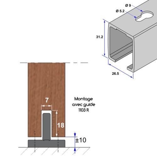 25 best ideas about rail pour porte coulissante on. Black Bedroom Furniture Sets. Home Design Ideas