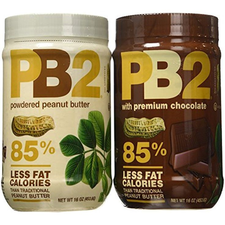 PB2 Powdered Peanut Butter and Powdered Chocolate Peanut Butter 16 Oz. Pack-2   #PB2