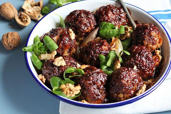 Sticky ginger-glazed pork balls – Recipes – Bite