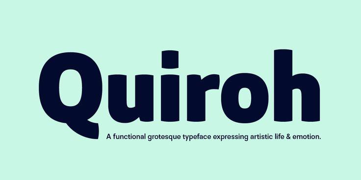 Quiroh™ - Webfont & Desktop font « MyFonts