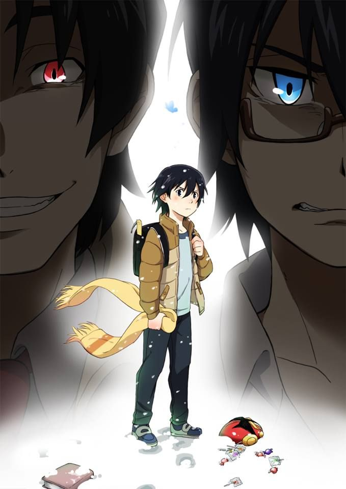 The scarf Satoru holds was given to him by Hinazuki on a cold night when Satoru walked her home. It has significant meaning to him; it was the last time he saw her before she went missing. Also, throughout the show, the blue and red eyes had significant meaning to me. Every time Isaw someone with red eyes, I thought it was the killer, up until we found out that it was Yashiro.