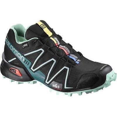 Salomon Speedcross 3 GTX Women Trail Laufschuhe air-blue line-fluo yellow - 42 P94UHB