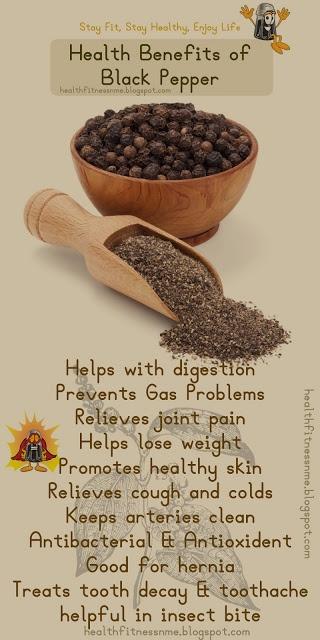 Health Benefits of Black Pepper #blackpepper #kitchen #essentials