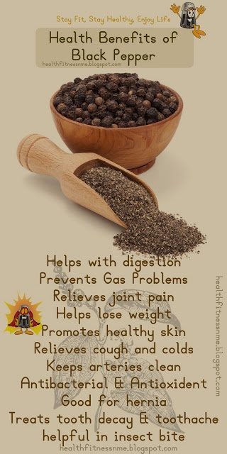 Health Benefits of Black Pepper #blackpepper #kitchen #essentials