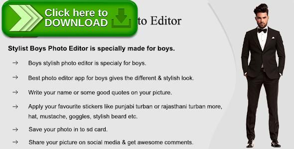 [ThemeForest]Free nulled download Stylist Boys Photo Editor (Photo Editing App) from http://zippyfile.download/f.php?id=54864 Tags: ecommerce, best  photo editor app, boys stylish photo editor, photo editor, photo editor app, photo editor of boys, stylish photo editor for boys
