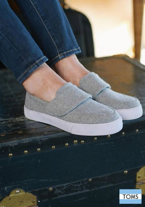 TOMS Women's Slip On Shoes. These Grey Felt Suede 'Altair' (see side  categories) in the Also available in If you've wanted shoes go for it.