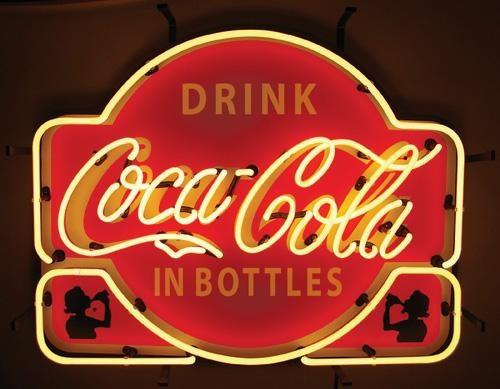 Vintage Neon Coca Cola Sign via rockinrodsbyrandy.com