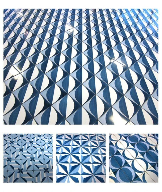 some of the 30 different tile patterns which Gio Ponti designed @Lea Ceramiche