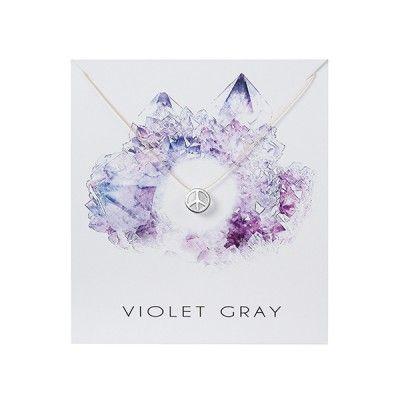 Violet Gray Simplicity Necklace #shopsmall #violetgray Shop online at thevillagemarketsgc.com.au/shop