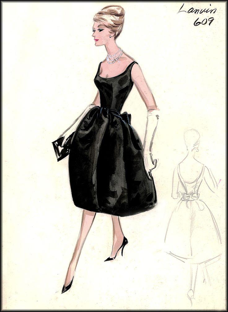 #Vintage #Lanvin sketch 609 #Bergdorf Goodman