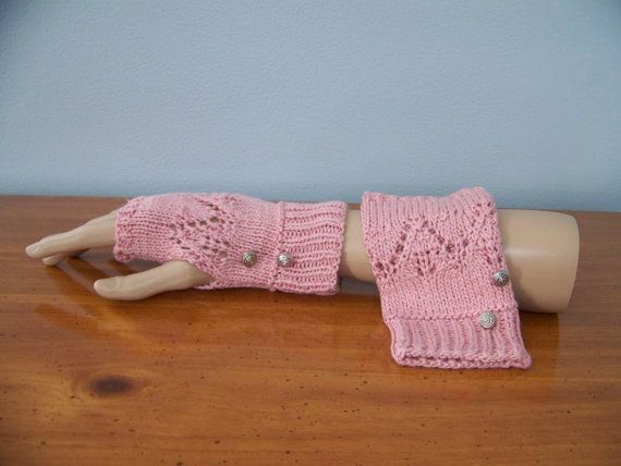 Lace fingerless gloves made from fine Italian silk by GloriasShop