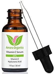 Amazon.com: Amara Organics Vitamin C Serum for Face 20% with Hyaluronic Acid & Vitamin E, 1 fl. oz.: Beauty
