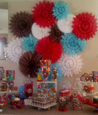 Sock Monkey Baby Shower.  I had a lot of fun decorating for this party,