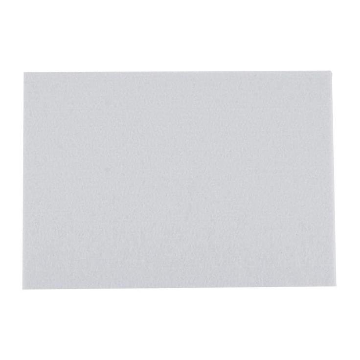 Home Felt Rectangle Shaped Self Adhesive Furniture Protector Cushion Pad White