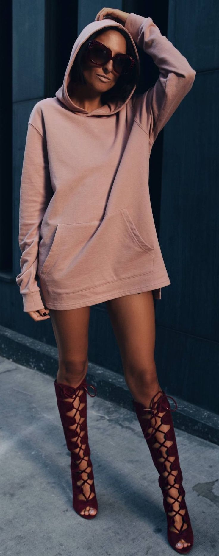 #fall #musthave #trends | Pink Hoodie Dress                                                                                                                                                                                 More