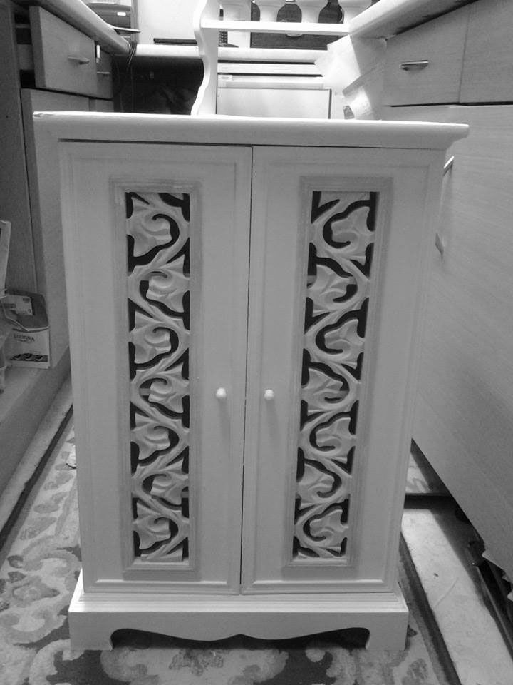 Upcycled Bathroom cupboard