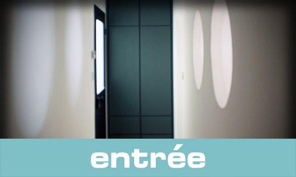 Placard d'entrée en MDF laqué anthracite | Atelier bois création - Benoît Lapasset
