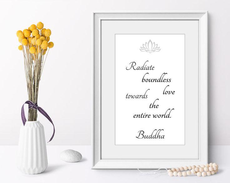 Art print Buddha quotes minimalist art poster modern home decor on demand #Minimalism