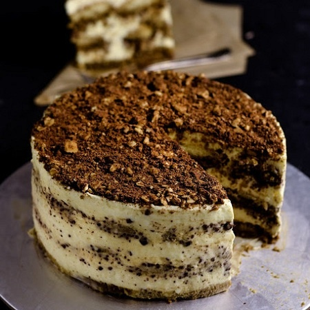 Nigella's Hazelnut Tiramisu Cake