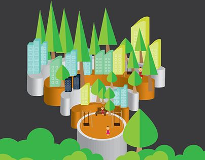 """Check out new work on my @Behance portfolio: """"WI-FI city"""" http://be.net/gallery/38440553/WI-FI-city"""