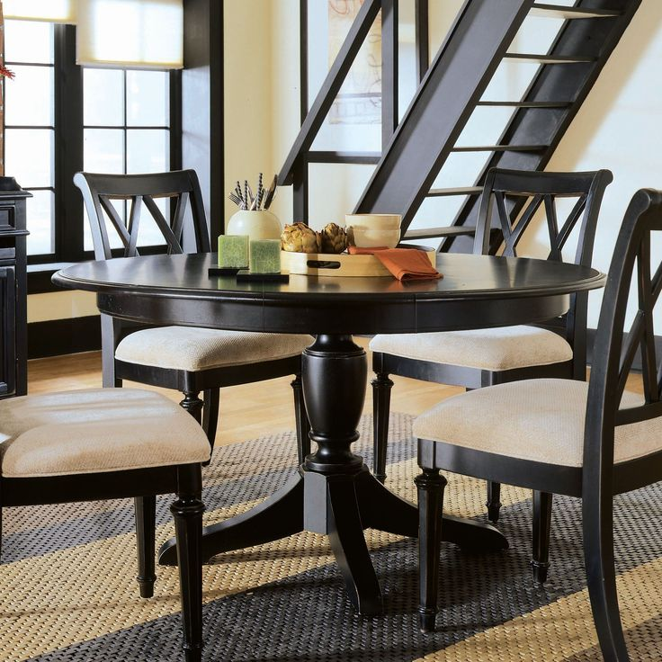 Round Dining Table Should I Paint My Black Or Distressed White And