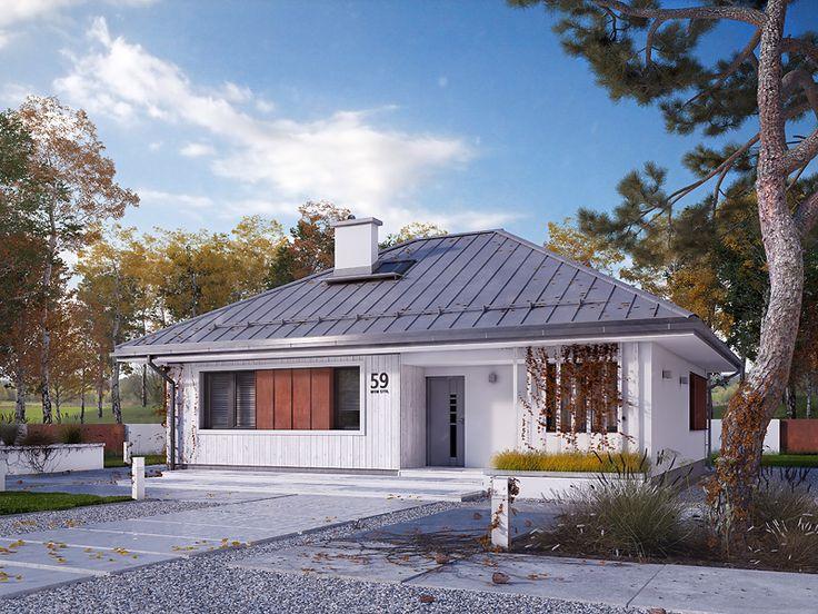 Mak 2 - projekt domu parterowego (75,34 m2). Pełna prezentacja projektu dostępna jest na stronie: https://www.domywstylu.pl/projekt-domu-mak_2.php. #amak2 #wnetrza #insides #interiors #domywstylu #mtmstyl #projekty #projekt #dom #houses #housedesign #moderndesign #architektura #arcitecture #design #projektygotowe