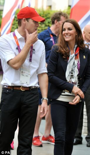 The Duke and Duchess of Cambridge during a visit to the Team GB accommodation flats in the Athletes Village at the Olympic Park
