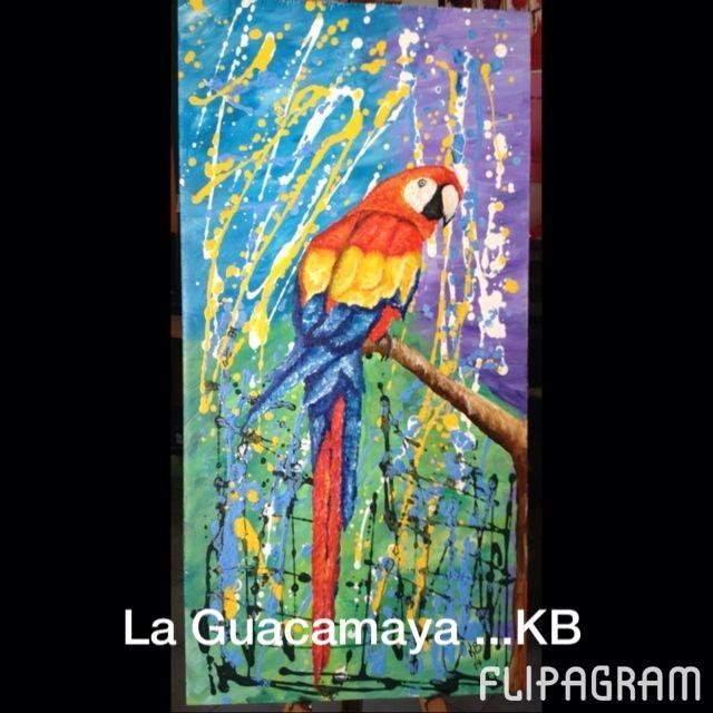 Mi último cuadro y este fue su proceso de creación de la Guacamaya ▶ Reproducir video de #flipagram - http://flipagram.com/f/EAs8ycKFCy