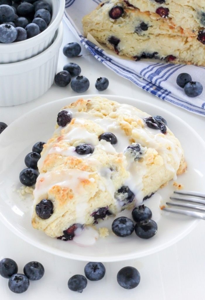 Blueberry Ricotta Scones - Baker by Nature