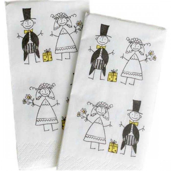 Lommetørklæder til glædestårer     BRYLLUP
