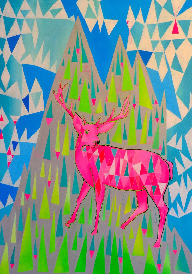 """Jebediah Smith Wilderness, WY"" by Sarah Fordham   PLATFORMstore. Acrylic on canvas"