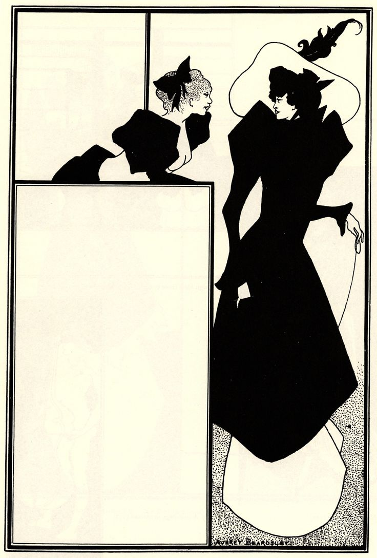 Poster advertising 'The Spinster's Scrip' - Aubrey Beardsley