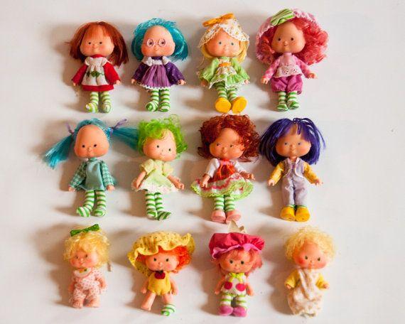 12 Vintage 1970s Strawberry Shortcake Dolls by lastprizevintage