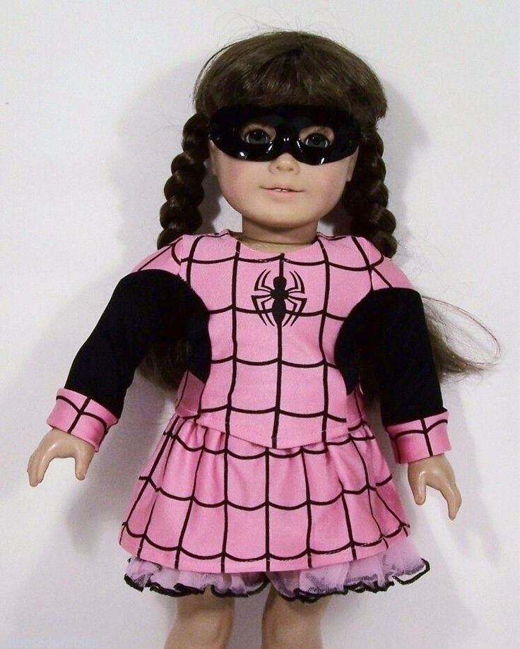 SPIDER Halloween Costume Top Skirt Mask Doll Clothes For 18 American Girl (Debs) | Dolls & Bears, Dolls, Clothes & Accessories | eBay!