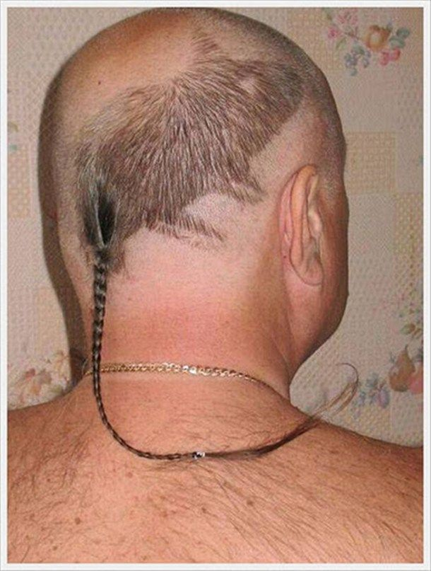 """This should be Ryan's next hairdo for his annual boys only river trip and """"I am man hear me roar contest."""""""