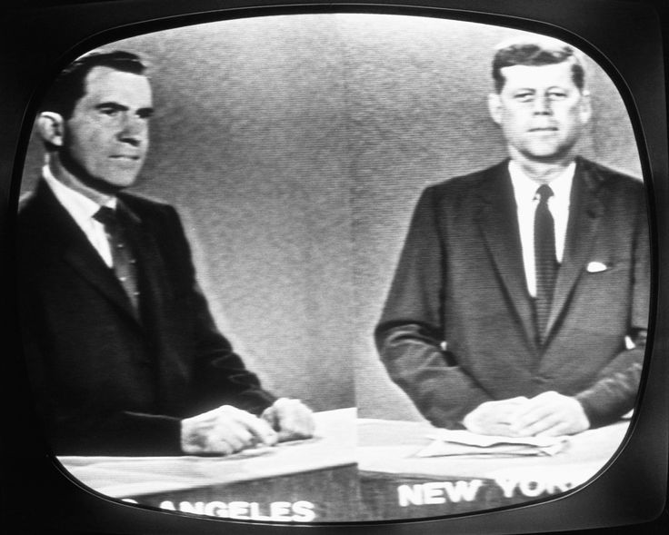 1st ever televised candidate debate, nixon & jfk for the 1960 presidential election