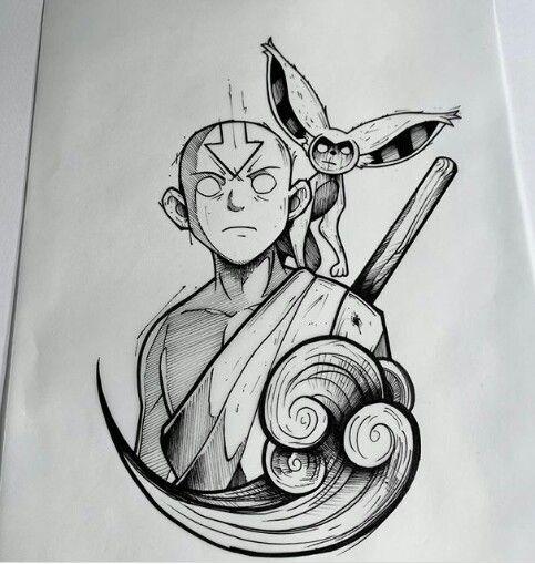 Geeky Tattoo ? #Cartoon #Avatar #Der letzte Airbender
