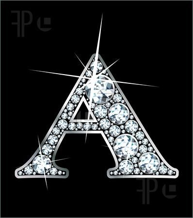 Z Alphabet In Diamond ... diamonds and silver.: Angie, Diamonds, Illustration, Letters A B, Zany