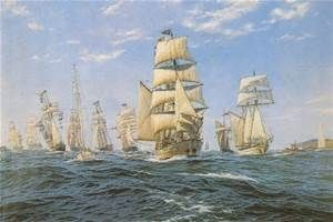 The first fleet, a fleet of 11 ships that carried most of the convicts to Australia