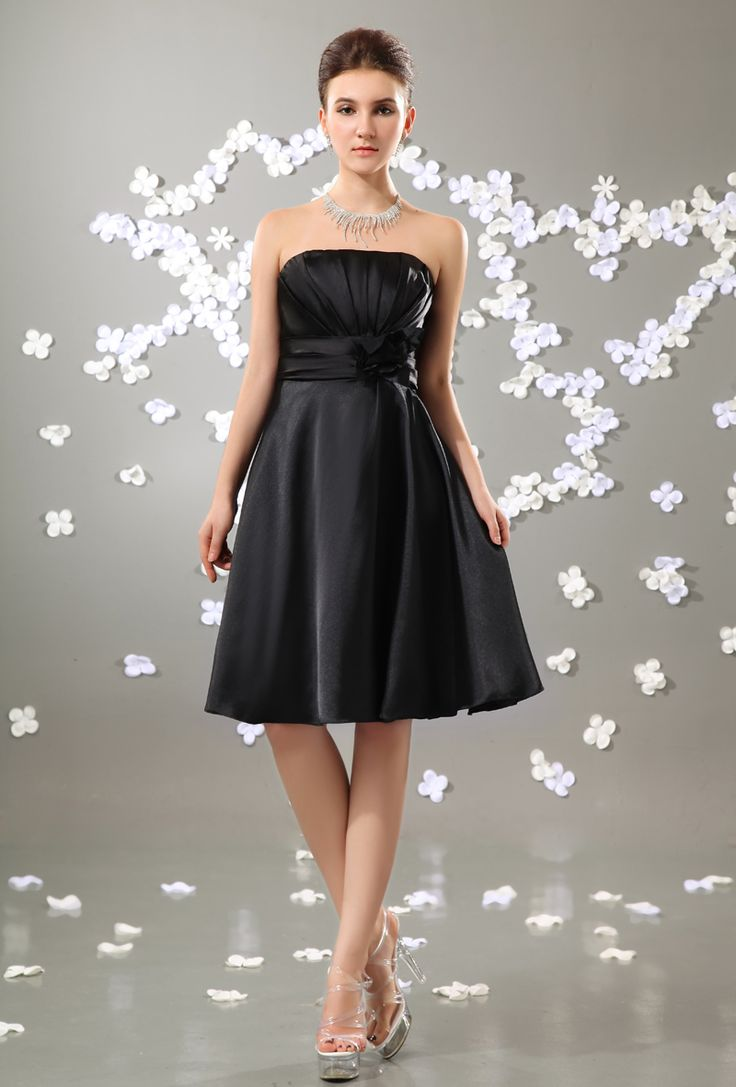 23 best maid of honor dresses images on pinterest wedding stuff click to buy best selling black a line knee length bridesmaid ombrellifo Images