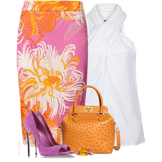"""""""Summer skirt"""" by sonies-world on Polyvore:"""