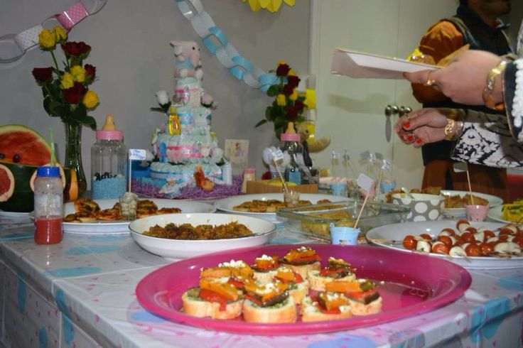 Dinner items baby shower