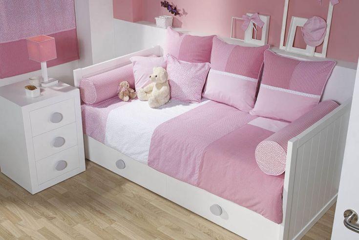 148 dormitorio con cama nido lacada rosas mi casita - Cama nido lacada ...