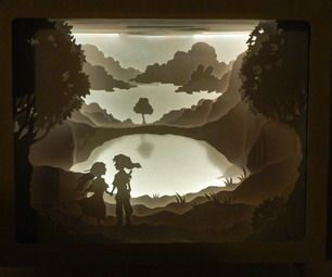How to layered 3d look for papercuts in shadow box